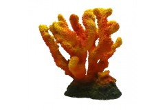 Décoration corail 24,5x22,5x25cm orange